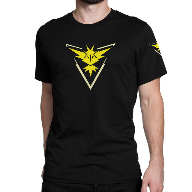 Officielles Pokémon Go Team Intuition (Gelb) T-Shirt (Zapdos) - www.pokegehilfe.de
