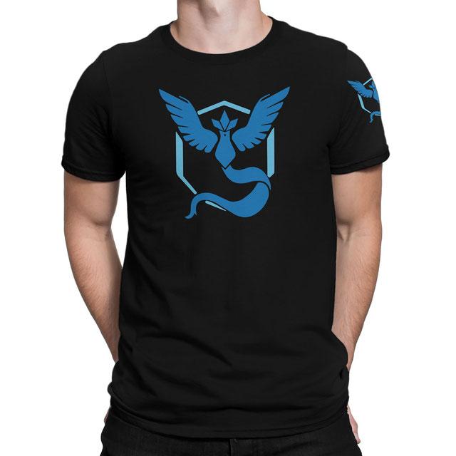Officielles Pokémon Go Team Weisheit (Blau) T-Shirt (Arktos) - www.pokegehilfe.de